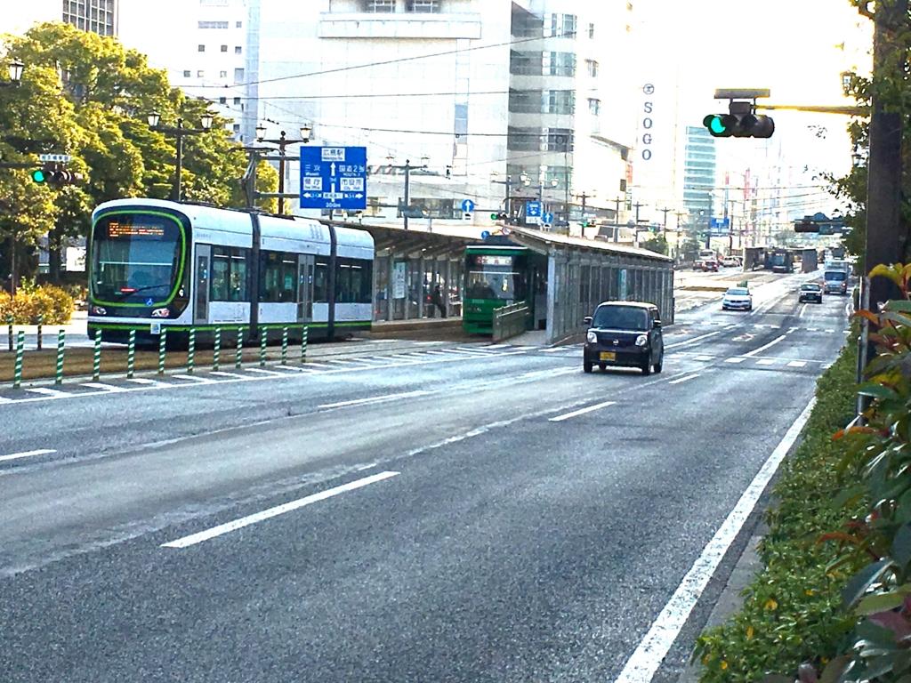 広島市内電車 原爆ドーム前駅