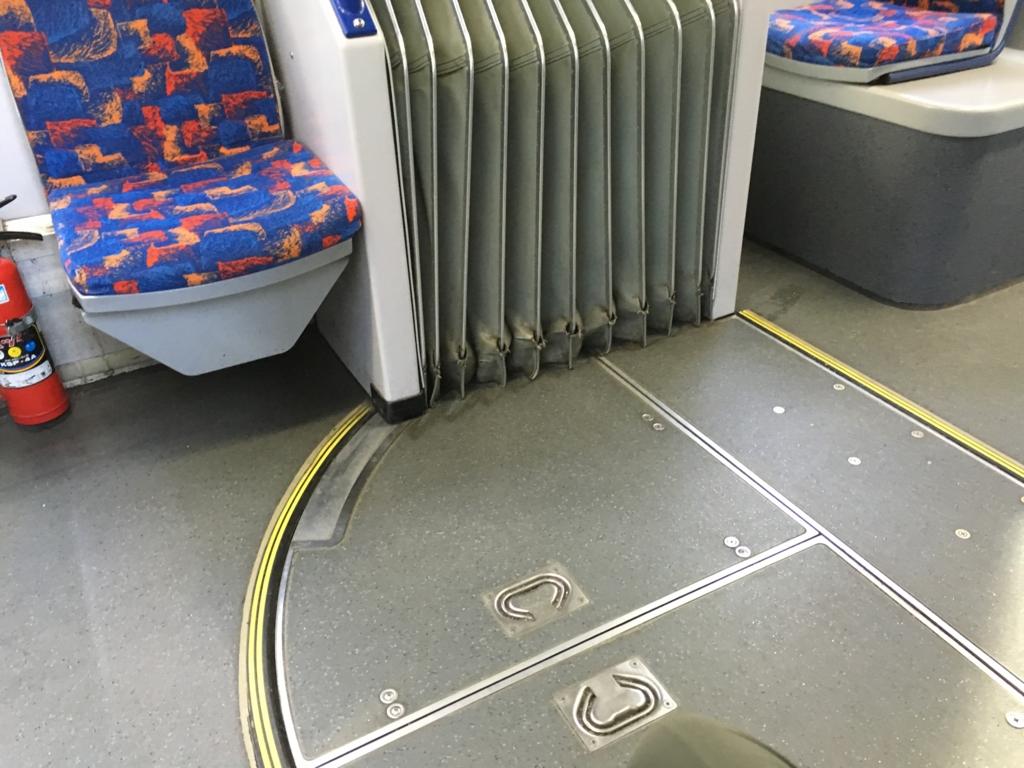 広島市内電車(路面電車)車輛連結部
