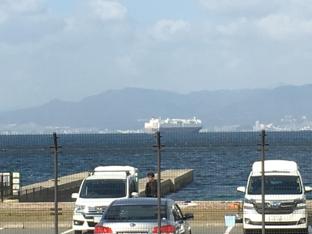 瀬戸内マリンビュー 窓からの景色 大型船舶