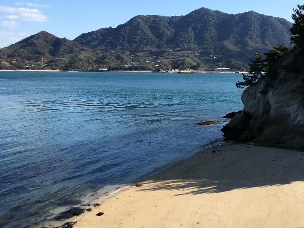 大久野島 火力発電所跡付近の海