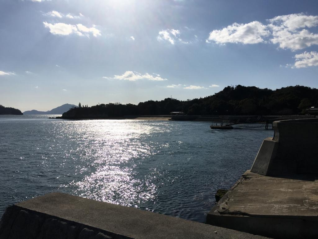 大久野島 海水浴場付近の海