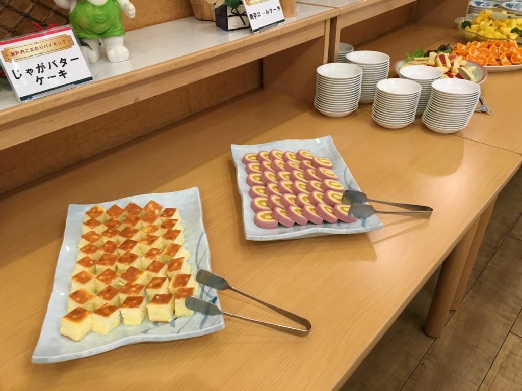休暇村大久野島 夕食バイキング デザート ケーキ類