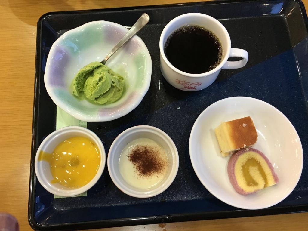 休暇村大久野島 夕食 デザート