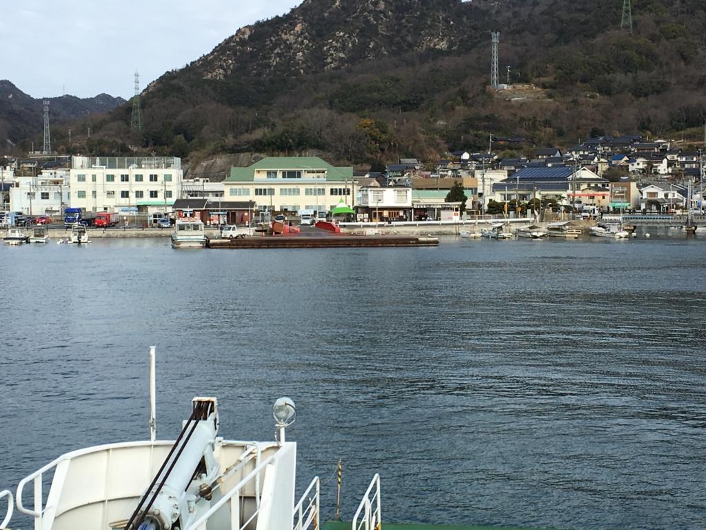 うさぎ島から忠実港へ フェリー乗船中