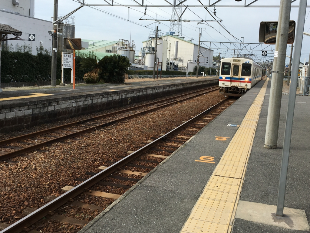 呉線 忠海駅 ホーム 三原行き到着
