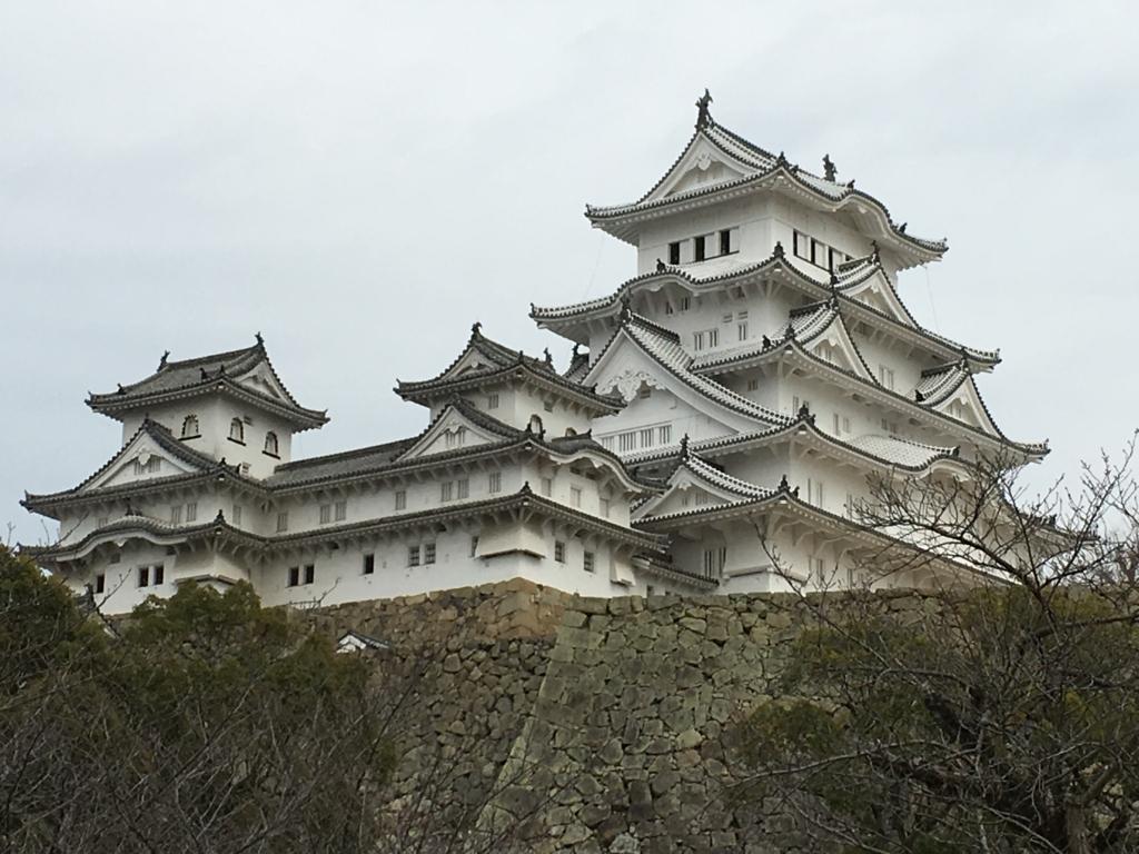 姫路城 全体案内図付近より