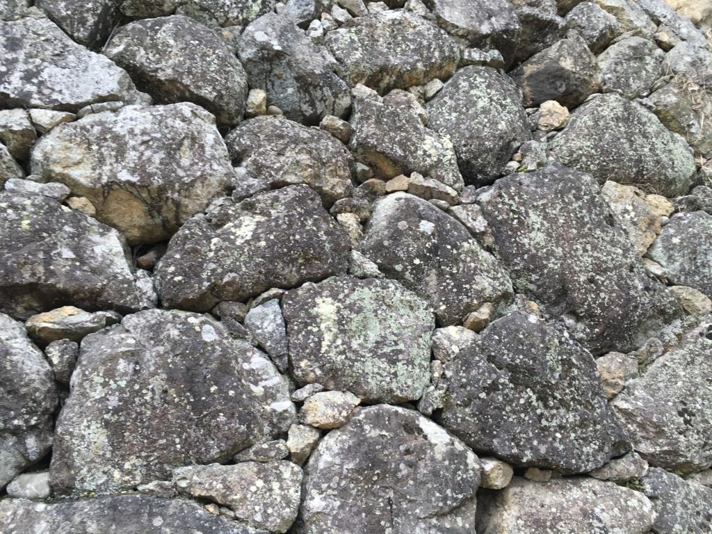 姫路城 不揃い石 の 城壁