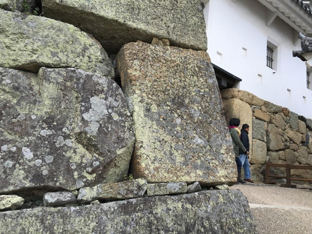 姫路城 城壁 墓石