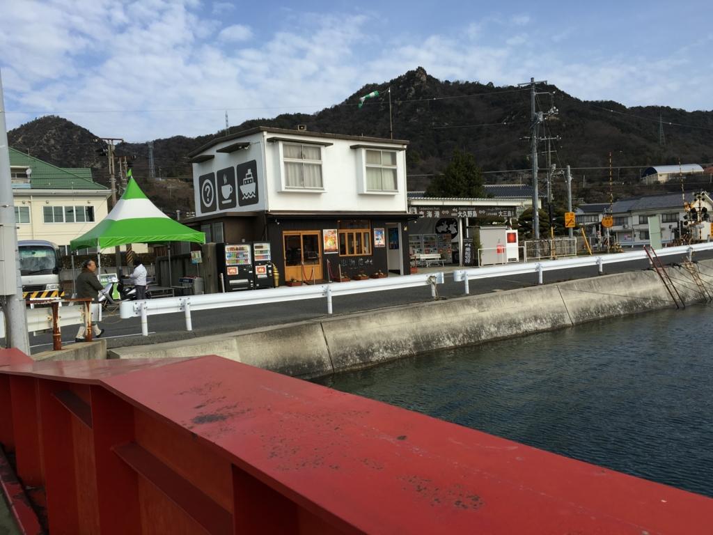 うさぎ島から忠実港へ 到着