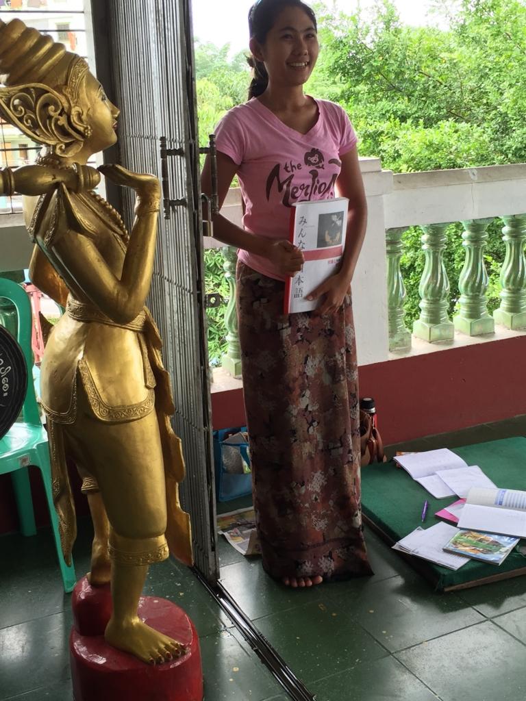 ミャンマー チャウタッジー・バゴタ 日本語を勉強していた学生