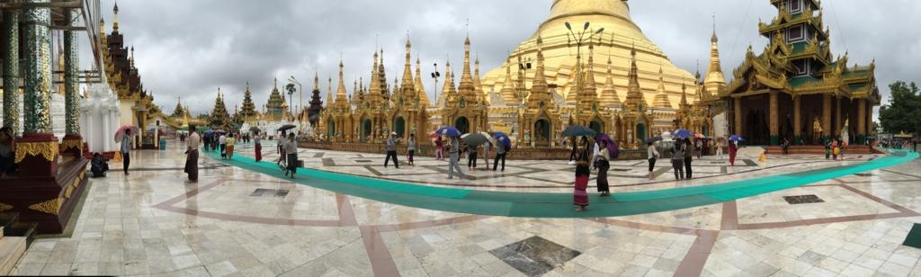 ミャンマー シュエダゴン・バゴダ パノラマ