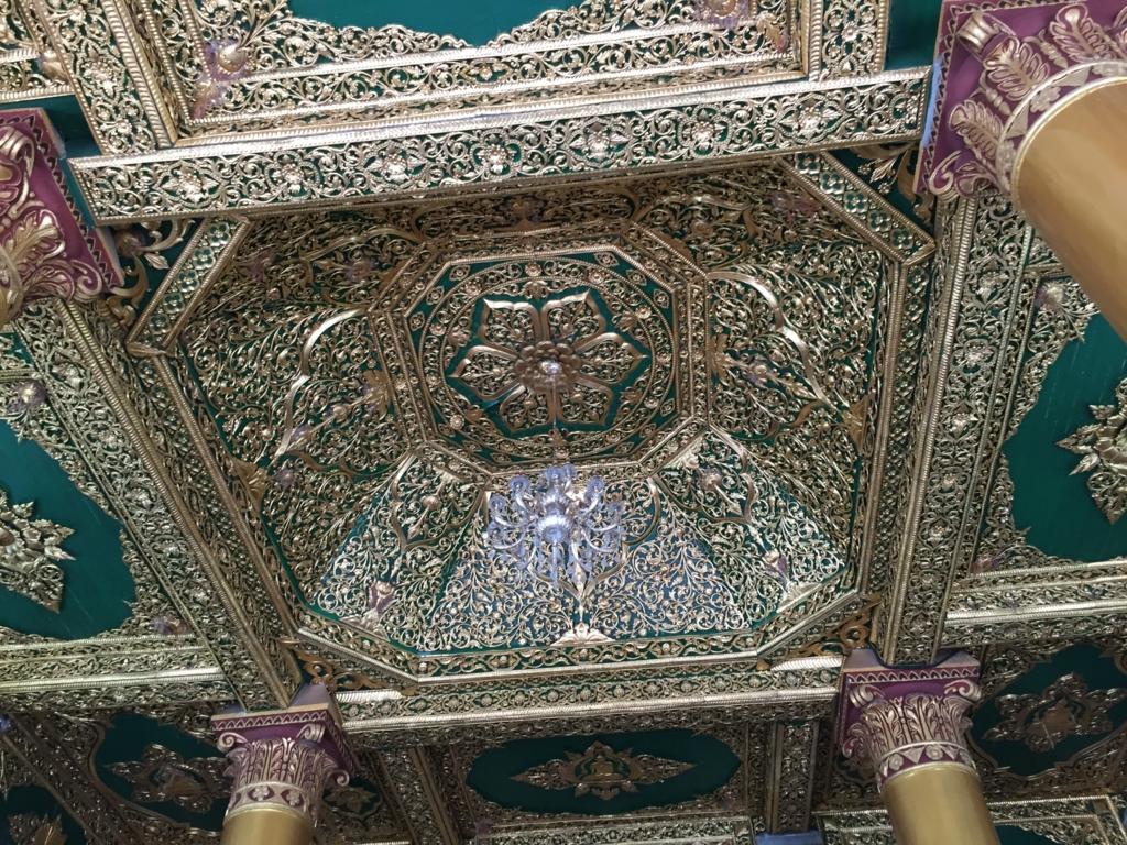 ミャンマー シュエダゴン・バゴダ 建物 天井の細工
