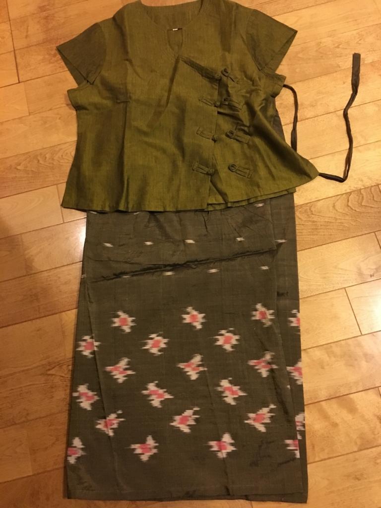 ミャンマー 民族衣装 ロンジー