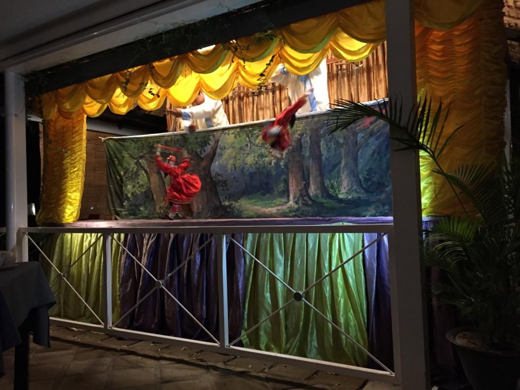 ミャンマーバガン 操り人形劇 飛びまくる人形