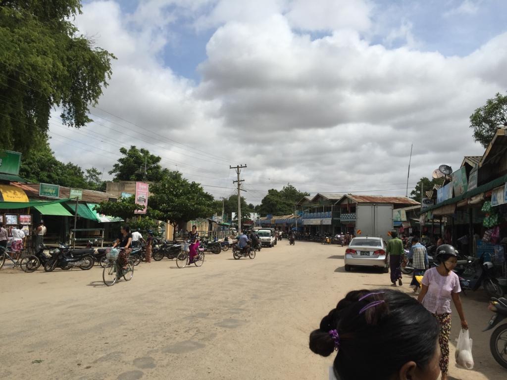 ミャンマー バガン ニャンウー・マーケット 入口