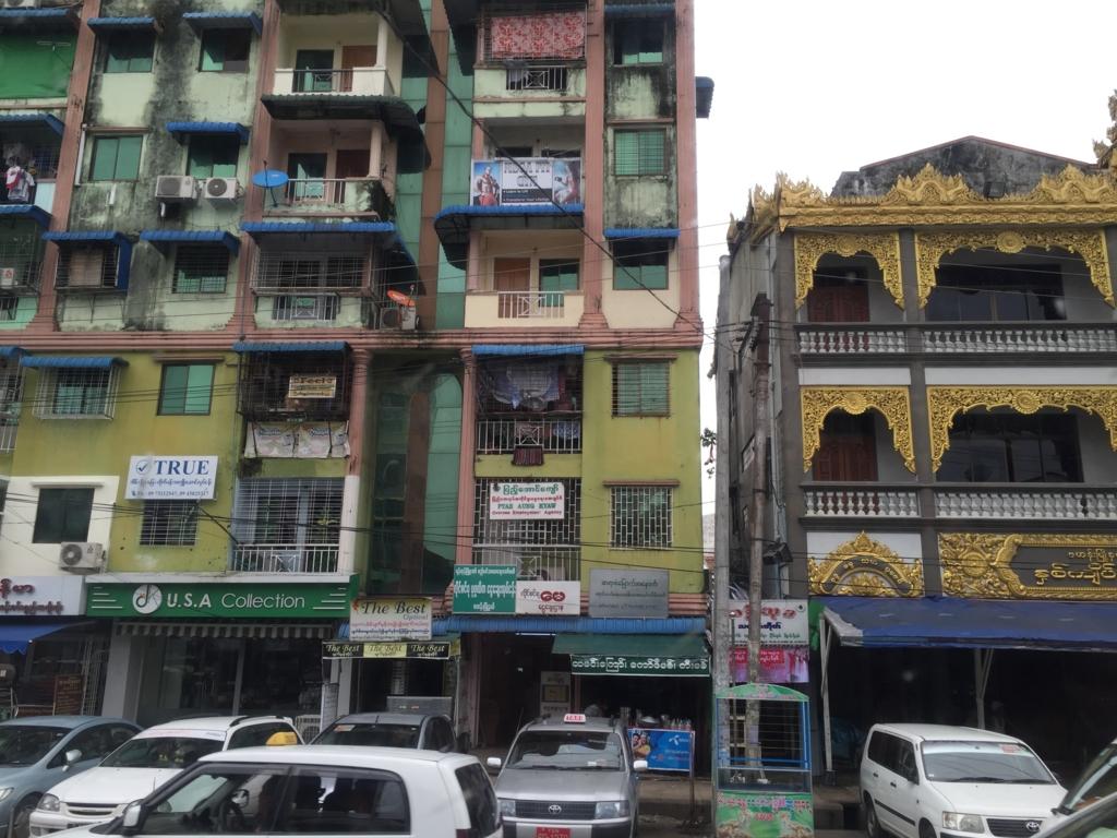 ミャンマー ヤンゴン市内 アパート?