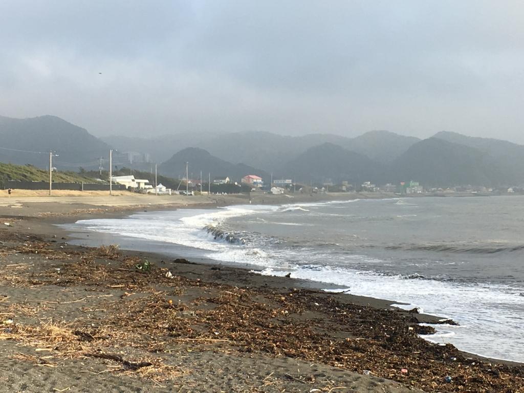 千葉県内房 保田 海岸 砂浜