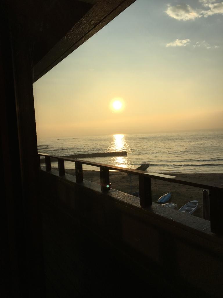 シーサイドリゾート ゆうみ 部屋からの夕日