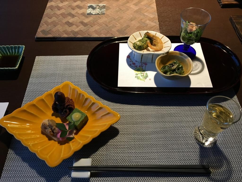 シーサイドリゾート ゆうみ 夕食 食前酒,前菜