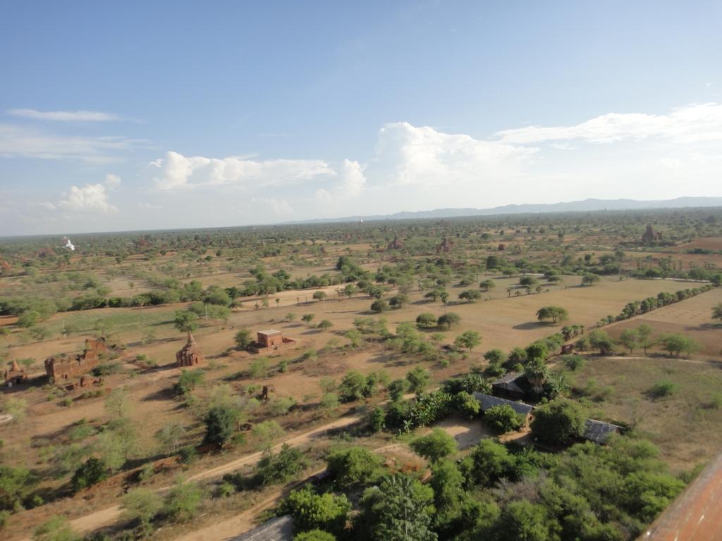 ミャンマー バガンビュータワー 展望台からの風景