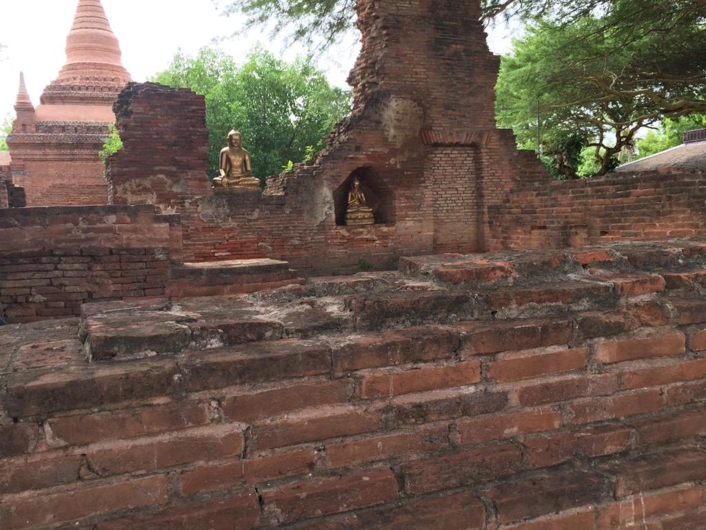 ミャンマー バガン ティリビセヤ・サンクチュアリー・リゾート ホテル 敷地内遺跡