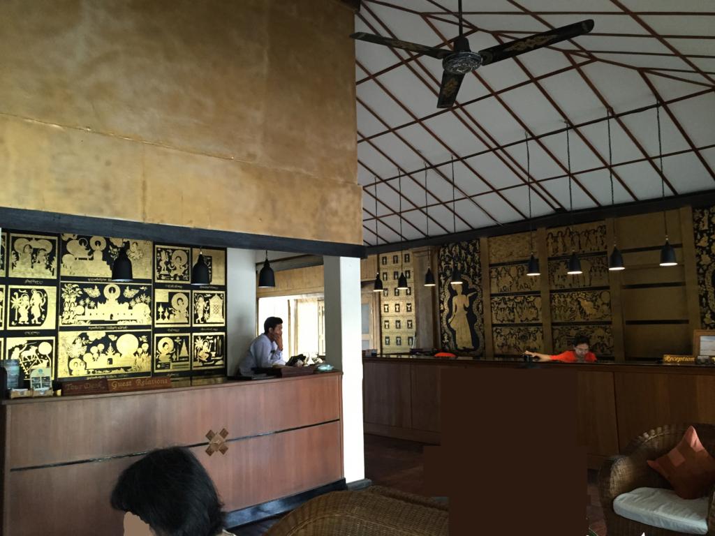 ミャンマー バガン ティリビセヤ・サンクチュアリー・リゾート ホテル フロント