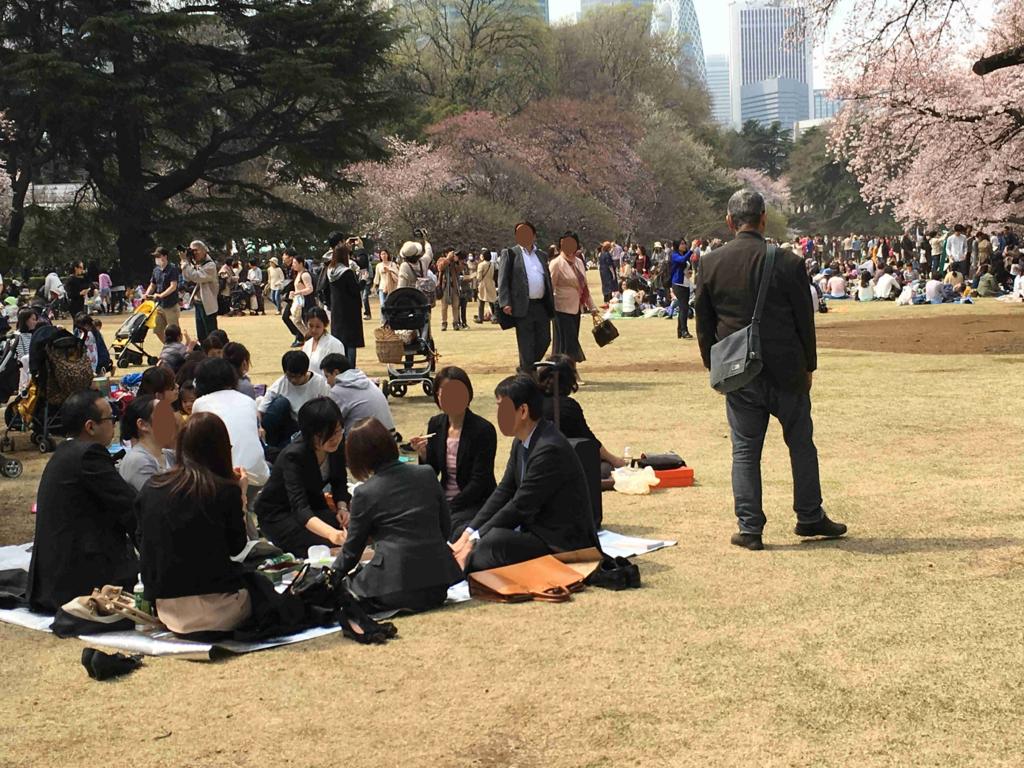 新宿御苑 「新宿門」付近 芝生