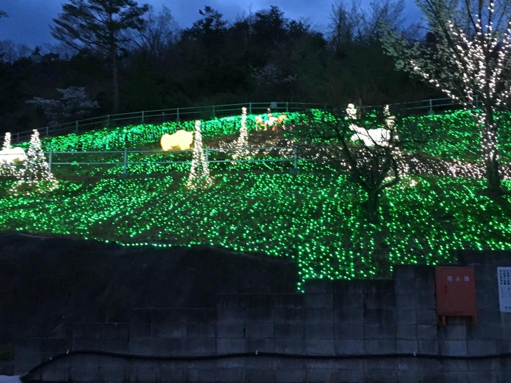 「さがみ湖イルミニオン」光の動物園
