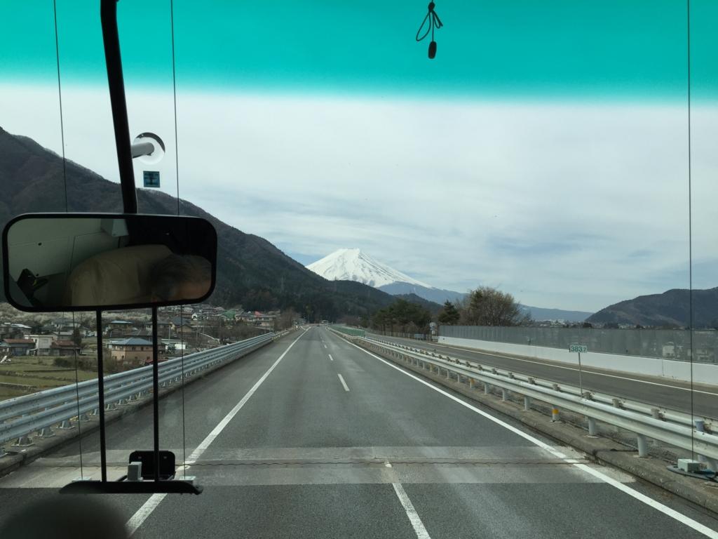 はとバス「ピアニシモⅢ」より富士山