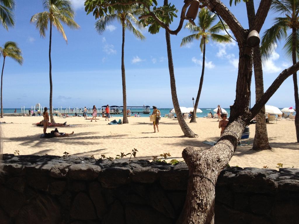 ハワイ オアフ島 ヒルトン・ハワイアン・ビレッジ・ワイキキ ビーチ