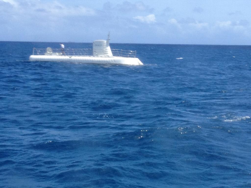 ハワイ オアフ島 観光用潜水艦 「アトランティス」潜水中
