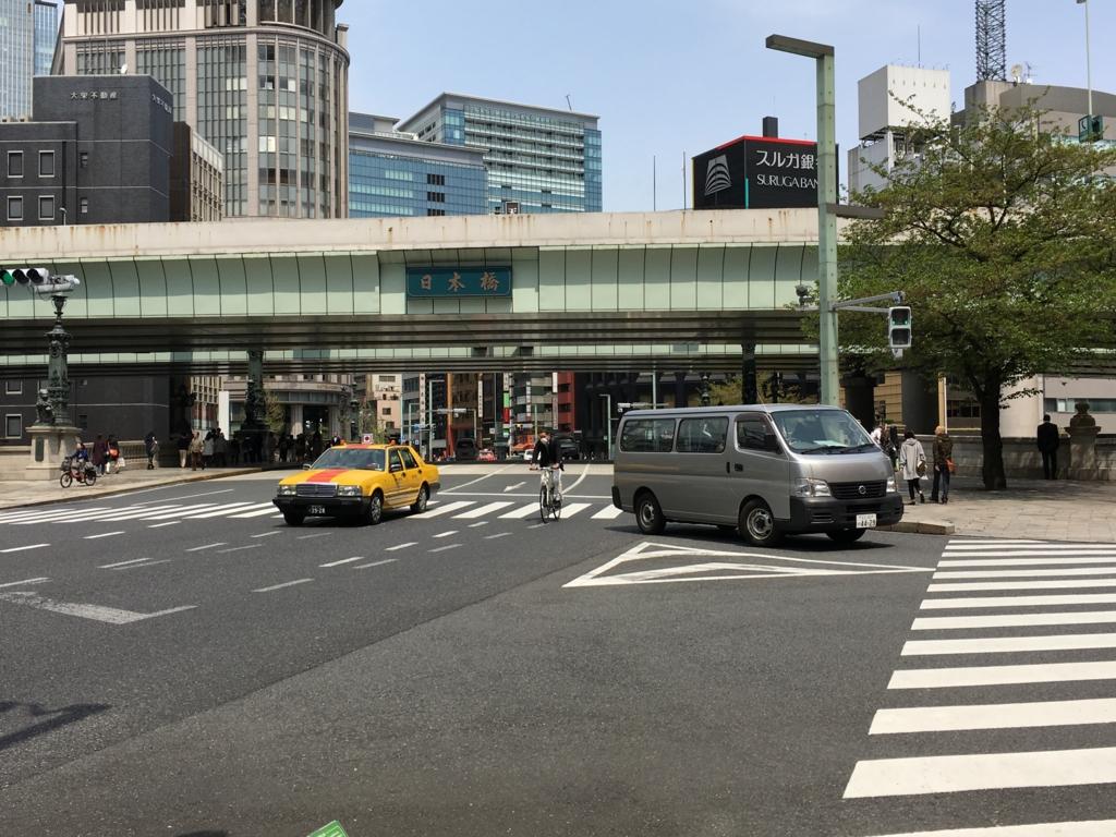 日本橋前の交差点