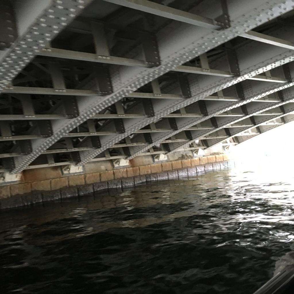 運河クルーズ 日本橋川 湊橋 下