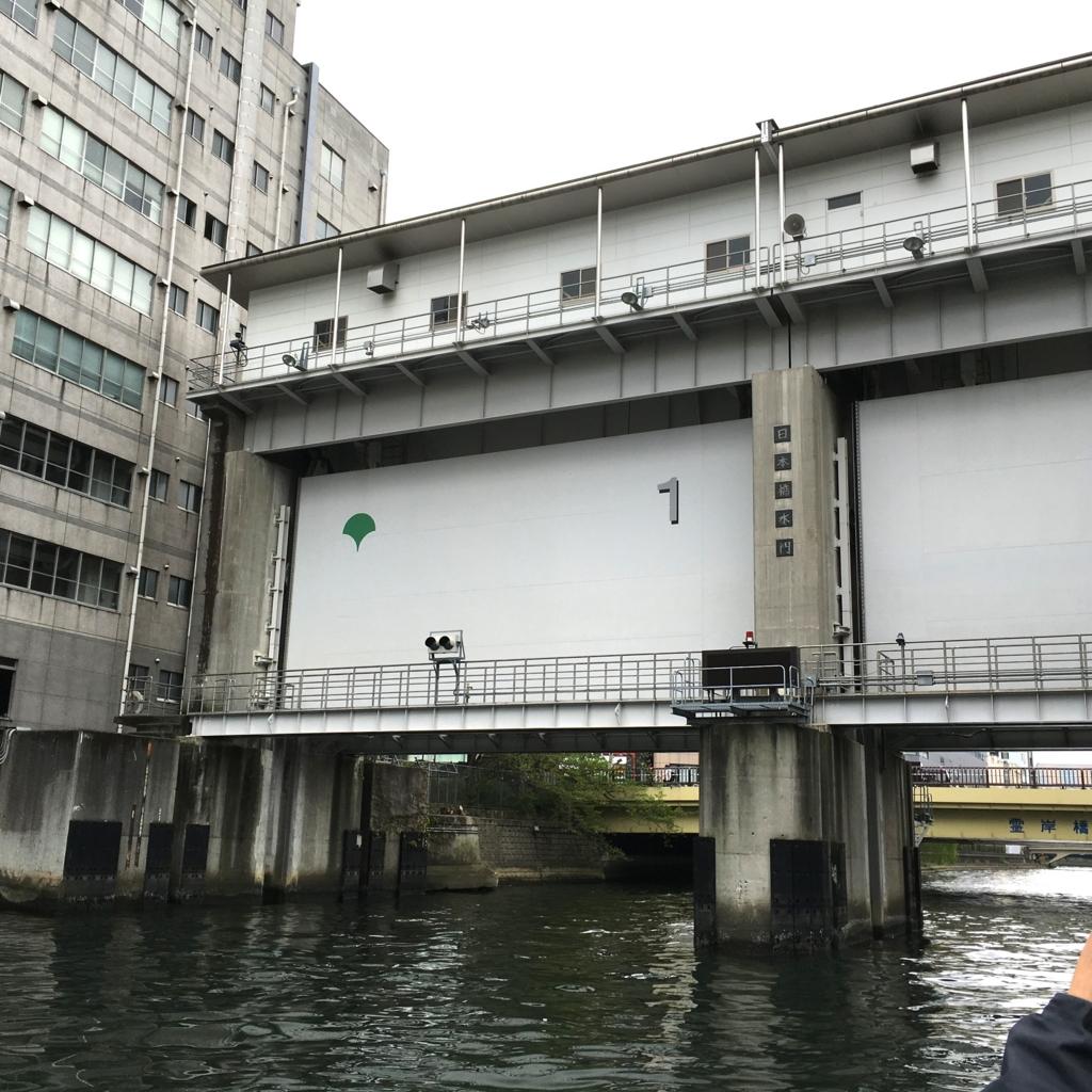 運河クルーズ 亀島川 日本橋水門