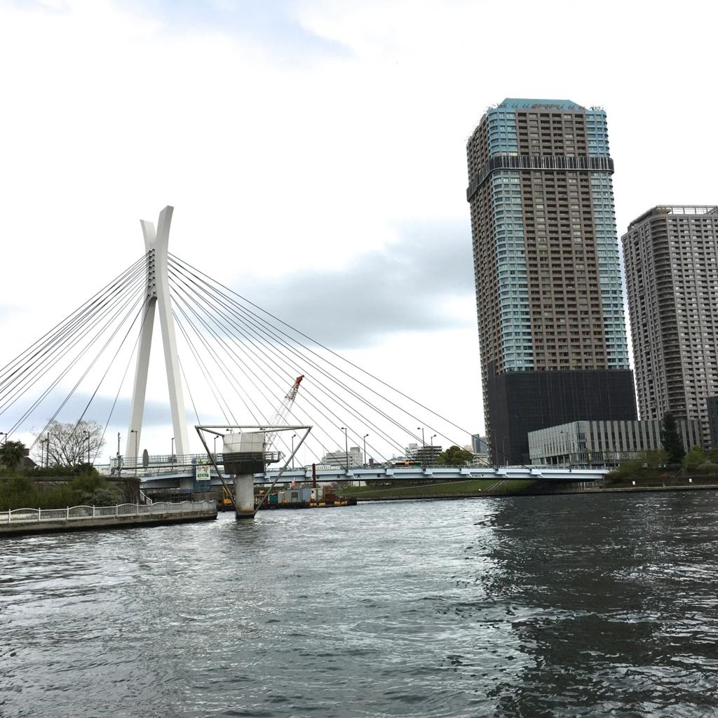 運河クルーズ 隅田川 佃島 東京湾 水位計