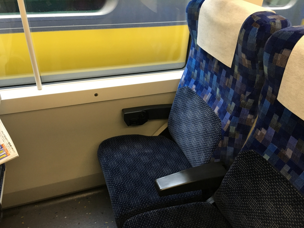 内房線 浜金谷駅 新宿さざなみ4号 座席