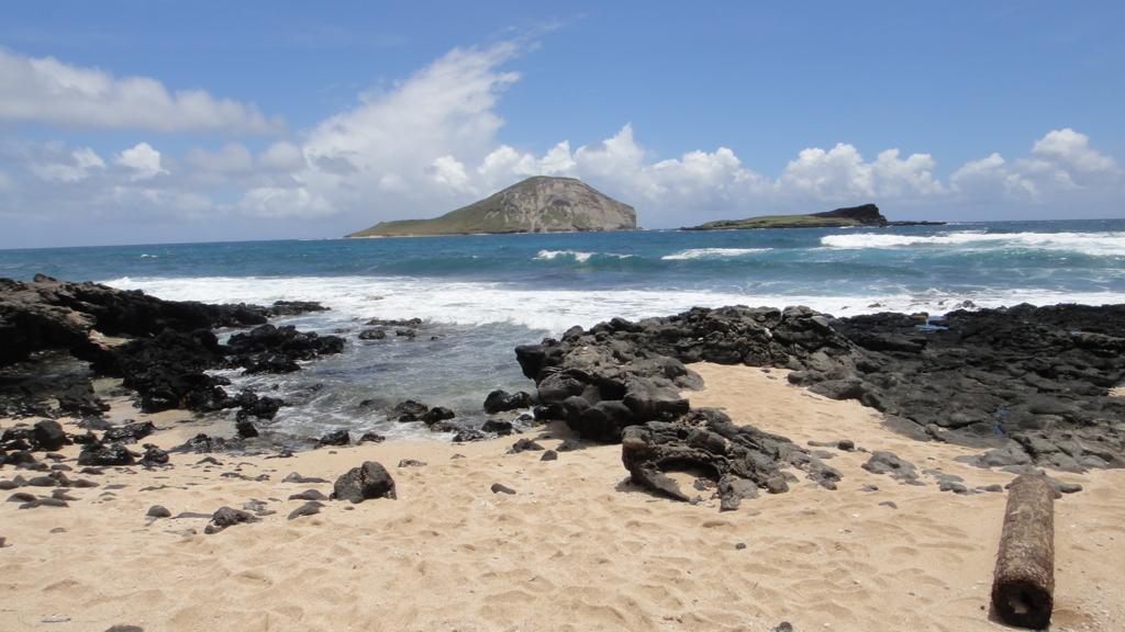 ハワイ オアフ島 パワースポットと言われる海岸