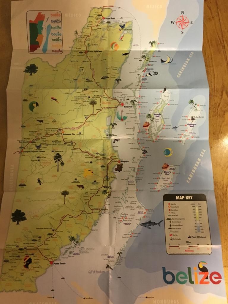 ベリーズ 地図