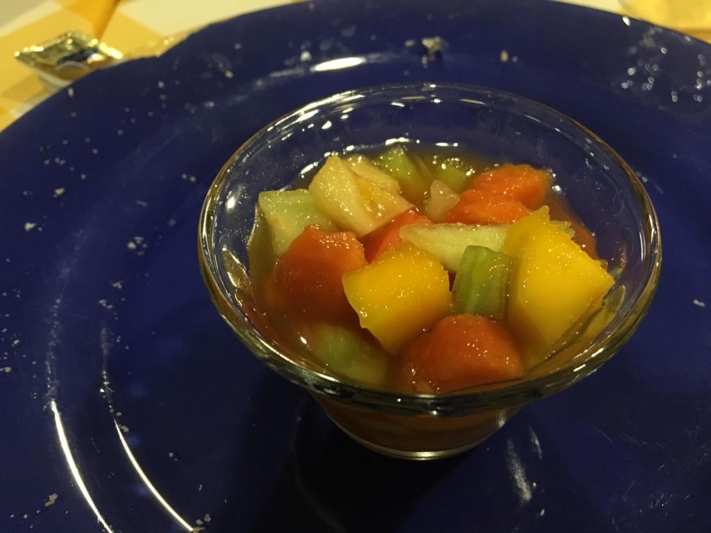グアテマラ フローレス ホテル カソナ デル 夕食 デザート