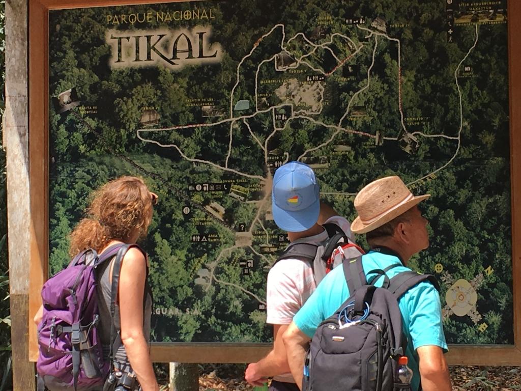 ティカル国立公園 入り口付近 MAP看板