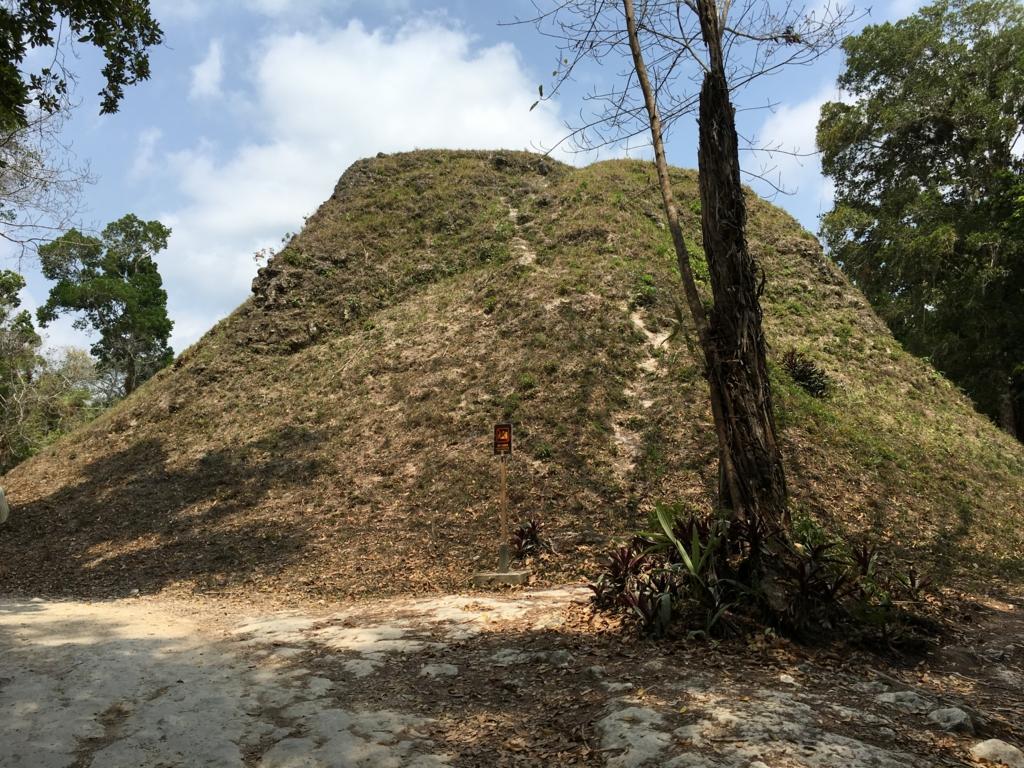 ティカル国立公園 双子のピラミッド コンプレックスQ 片側(発掘前)
