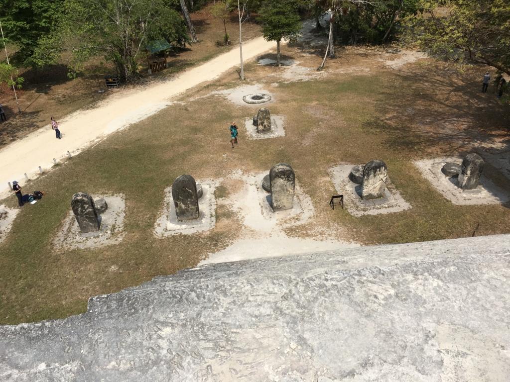 ティカル国立公園 双子のピラミッド コンプレックスQ 頂上より地上