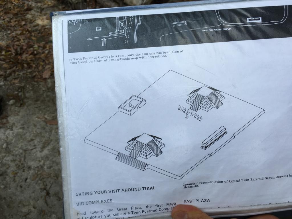 ティカル国立公園 双子のピラミッド コンプレックスQ 予想図