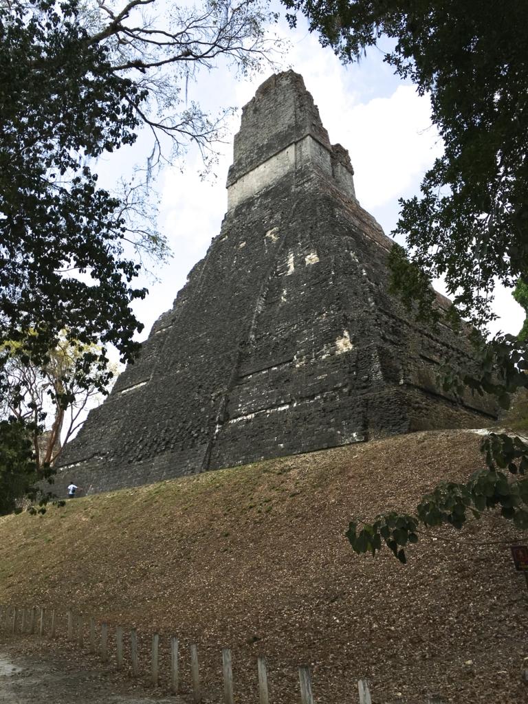 グアテマラ ティカル国立公園 1号神殿 裏側