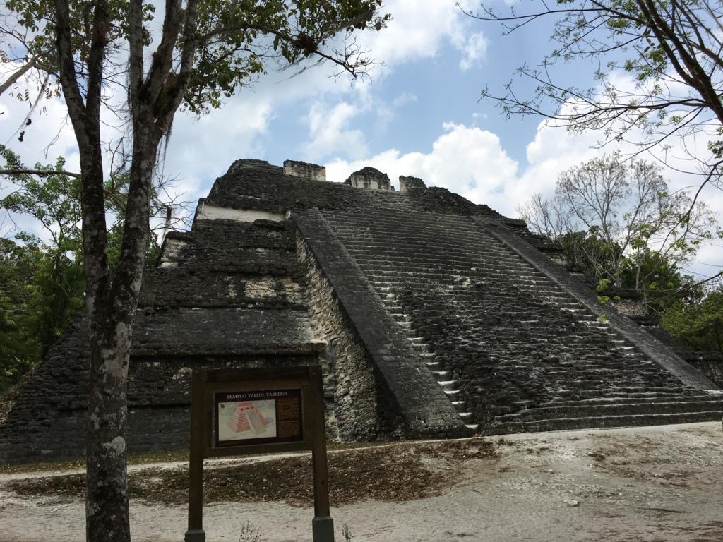 グアテマラ ティカル遺跡 「失われた世界」ピラミット麓