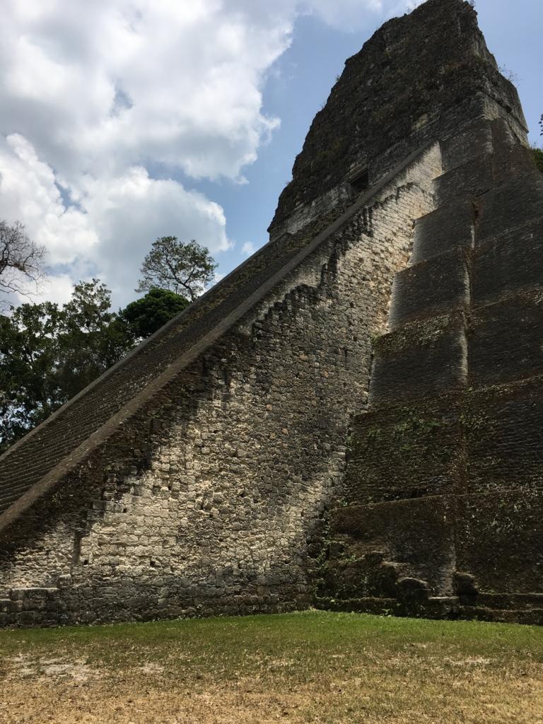 グアテマラ ティカル遺跡 「5号神殿」側面