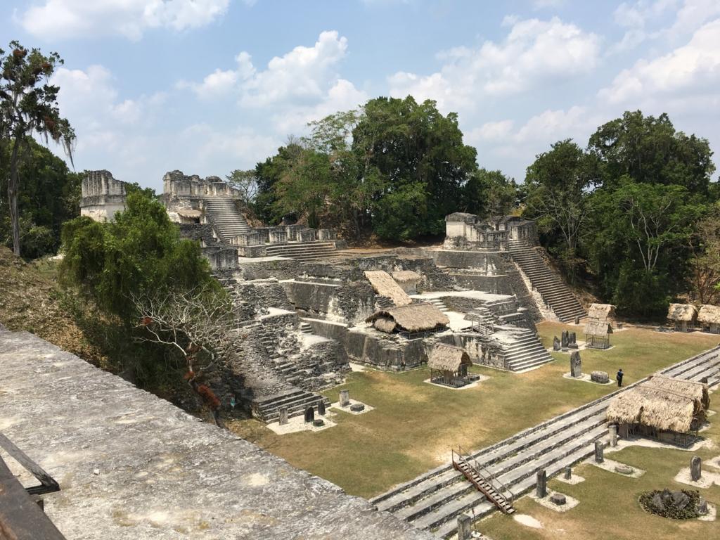 グアテマラ ティカル遺跡 「2号神殿」頂上より ノースアクロポリス