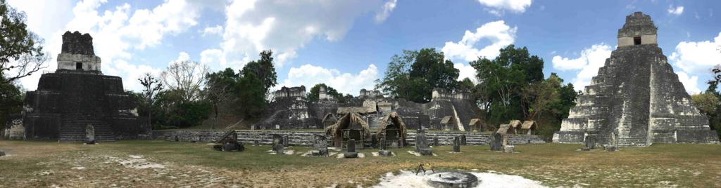 グアテマラ ティカル遺跡 グランプラザ パノラマ写真