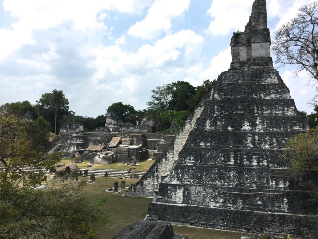 グアテマラ ティカル遺跡 セントラルアクロポリスからの 1号神殿