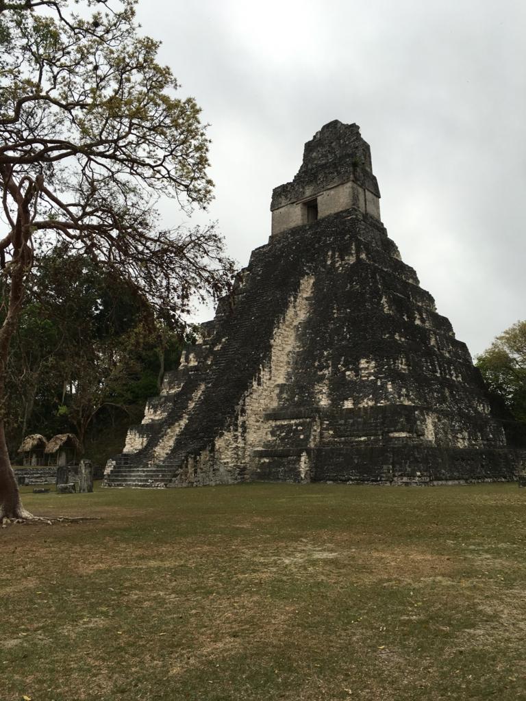 グアテマラ ティカル遺跡 1号神殿 早朝